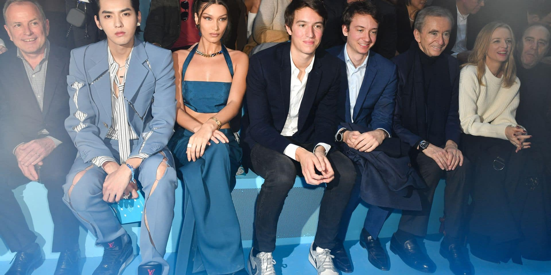 PFW Louis Vuitton Front Row LZ