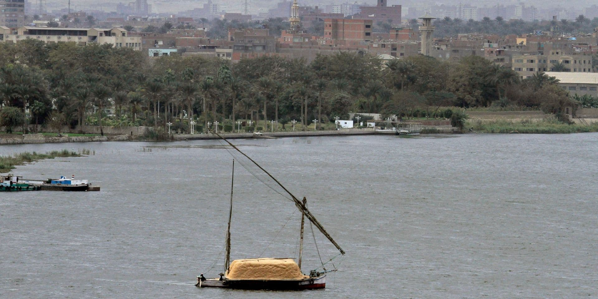 Le Caire, avec le Nil.