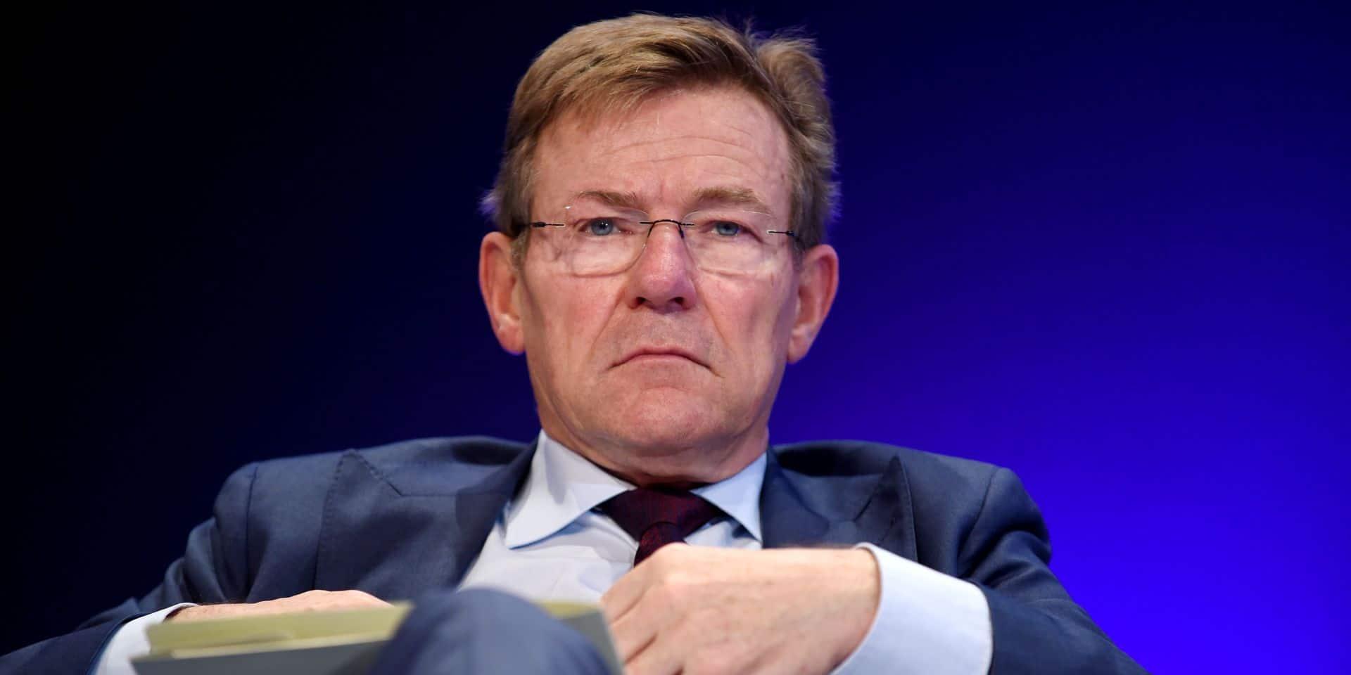 """Johan Van Overtveldt (N-VA/Conservateurs et réformistes européens) """"chairman"""" des négociateurs du Parlement."""