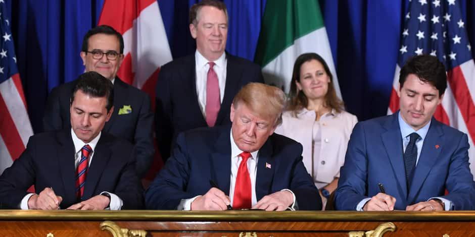 Les Etats-Unis, le Mexique et le Canada s'accordent sur le libre-échange