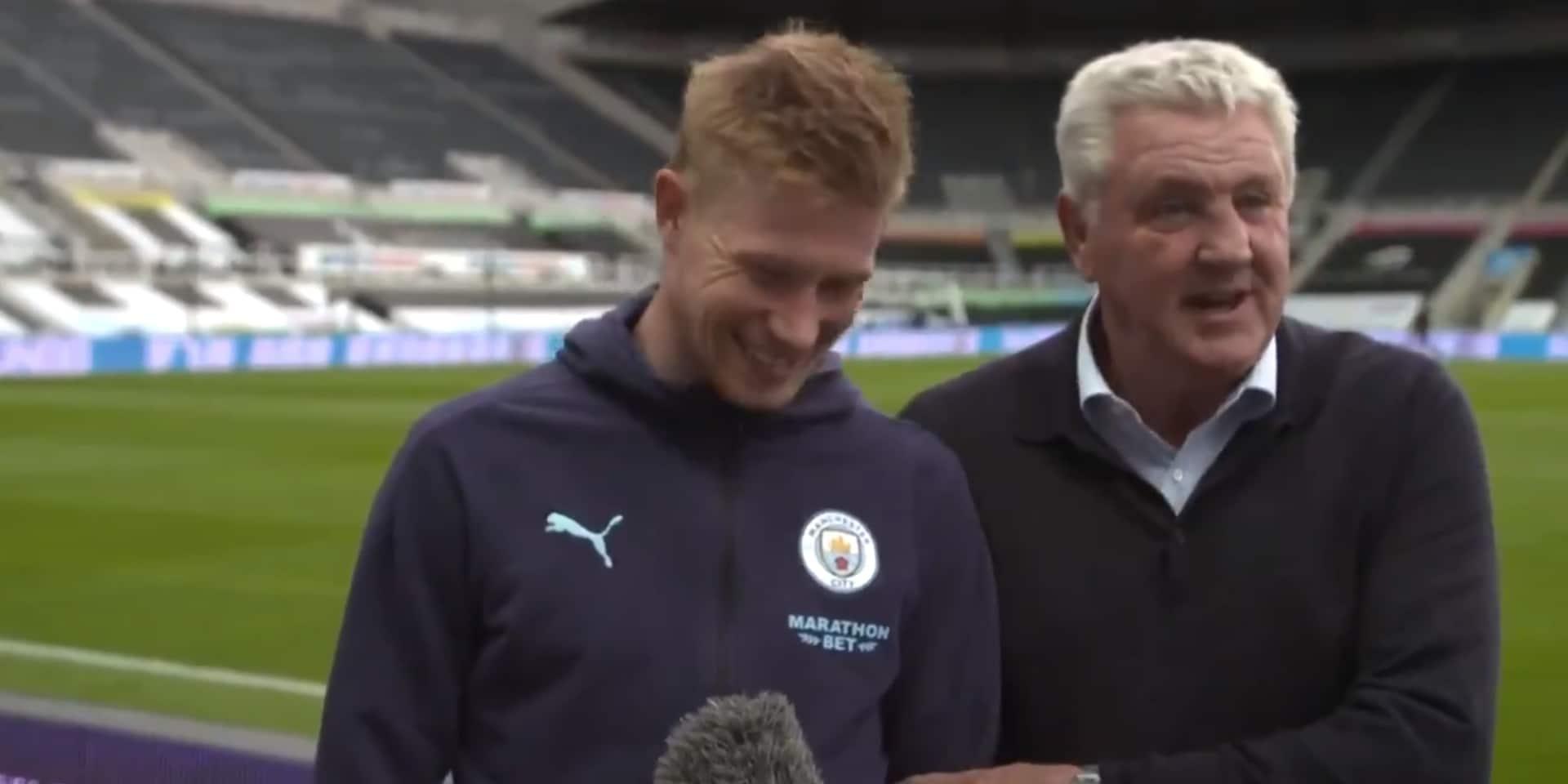 """L'entraîneur de Newcastle blague avec Kevin De Bruyne: """"Il en a assez de ManCity, il vient jouer ici"""""""