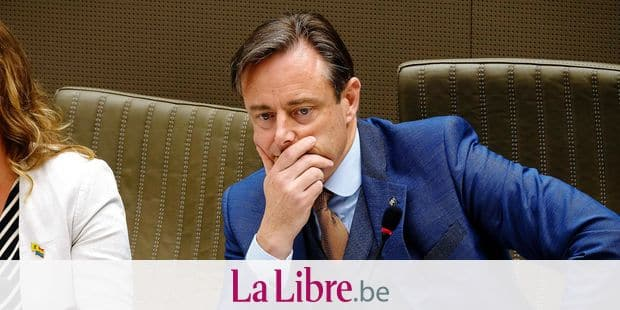 N-VA's Bart De Wever pictured during the oath taking ceremony at the Flemish Parliament in Brussels, Tuesday 18 June 2019. BELGA PHOTO NICOLAS MAETERLINCK