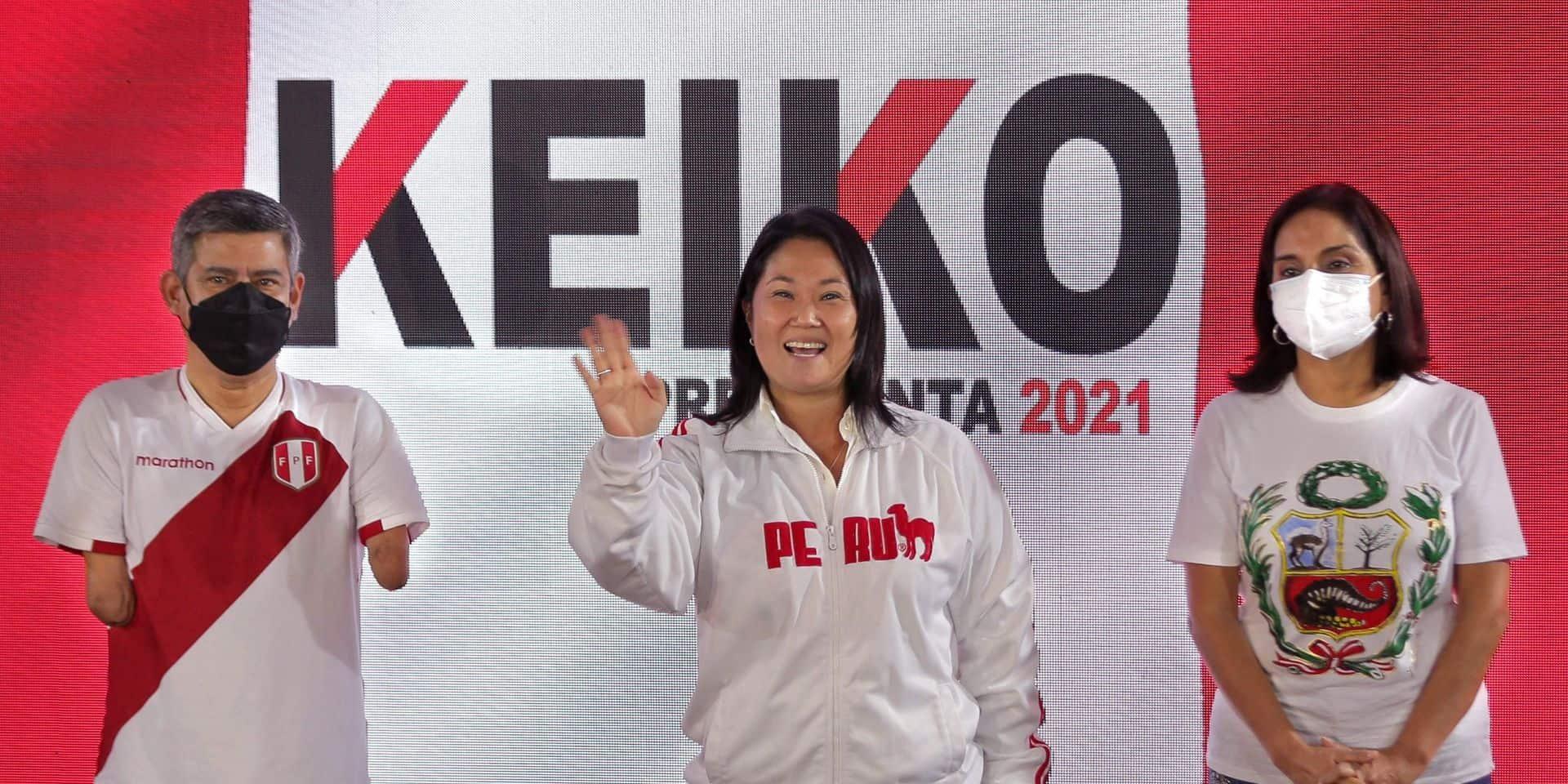 Présidentielle au Pérou: Keiko Fujimori en tête au premier résultat partiel