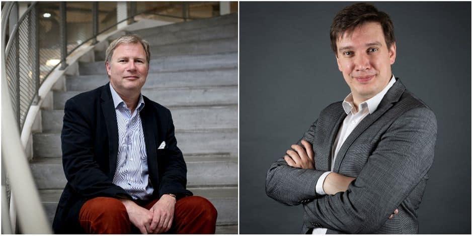 Pierre Rion, président du comité d'investissement de W.IN.G, et Nicolas Dhaene, directeur général.