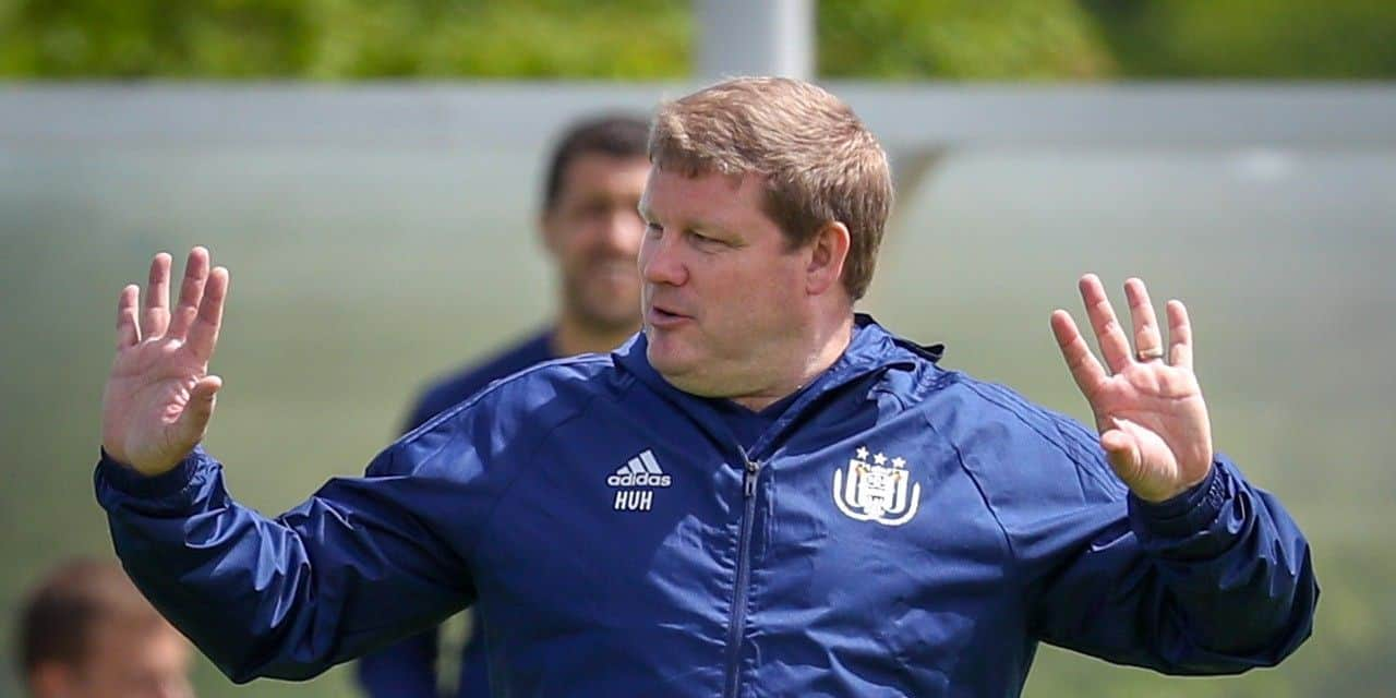Anderlecht's head coach Hein Vanhaezebrouck gestures during the first training session of Jupiler Pro League team RSCA Anderlecht, for the 2018-2019 soccer season, at the Soccer Union training facilities in Tubize, Thursday 21 June 2018. BELGA PHOTO VIRGINIE LEFOUR