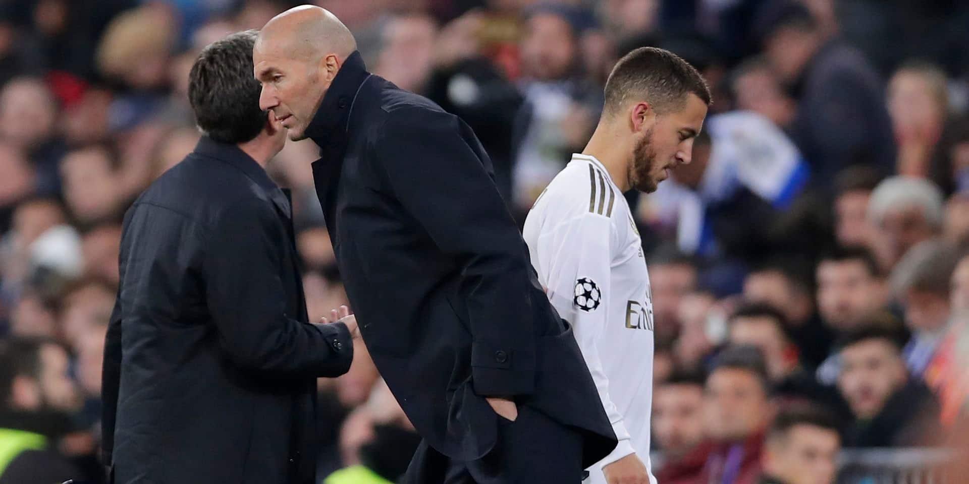 "Zidane: ""Je ne sais pas si Hazard sera prêt pour le Clasico"""