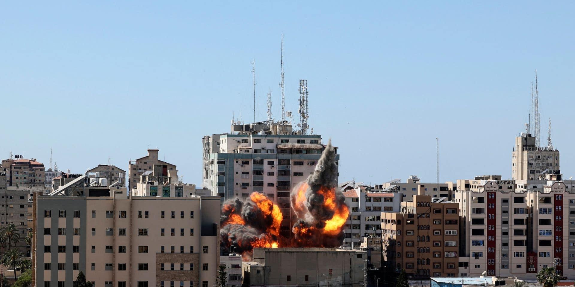 Israël affirme que le Hamas cachait un système de brouillage dans l'immeuble détruit abritant des médias