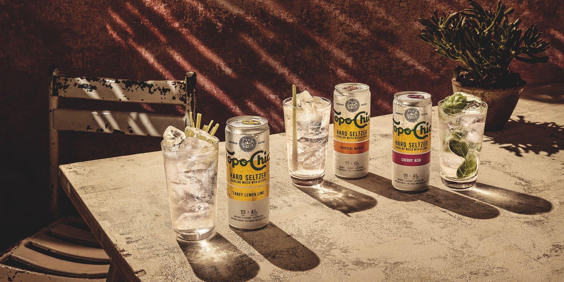 Topo Chico proposera trois saveurs : Tangy Lemon Lime, Tropical Mango et Cherry Açaí.