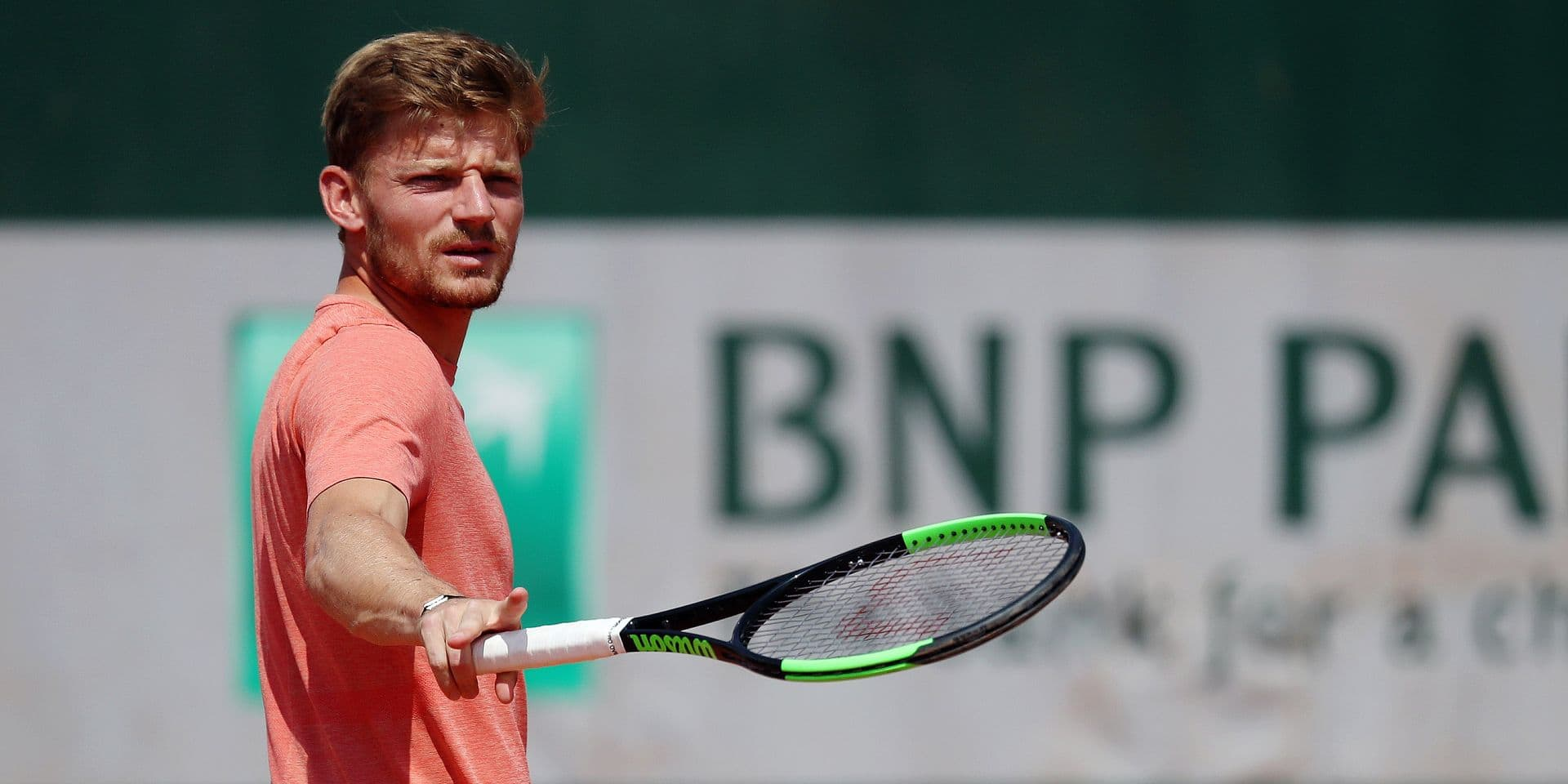 Belgian David Goffin pictured during a training session ahead of the Roland Garros French Open tennis tournament, in Paris, France, Friday 24 May 2019. The main draw of this year's Roland Garros Grand Slam takes place from 26 May to 9 June. BELGA PHOTO VIRGINIE LEFOUR