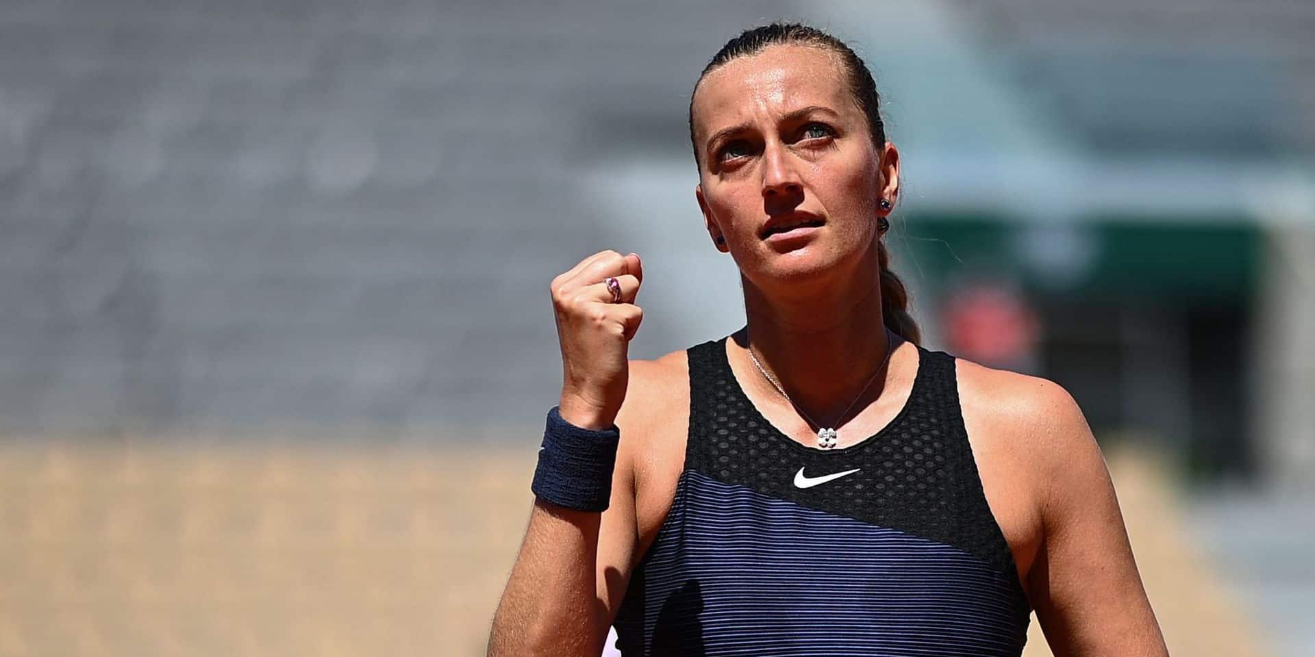"""Roland-Garros: Kvitova se blesse durant ses """"obligations médiatiques"""" et déclare forfait"""