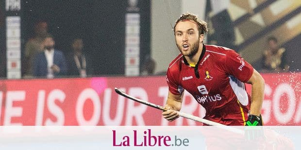 "Red Lion Emmanuel Stockbroekx in action during the Hockey World Cup 2018, in Bhubaneswar, India. on the picture regarding the Belga article ""Manu Stockbroekx blesse aux ischio-jambiers, Antoine Kina rappele par precaution"", 02/12/2018 21:10, in BRUSSELS. BEST QUALITY AVAILABLE - BELGA PHOTO DANIEL TECHY"