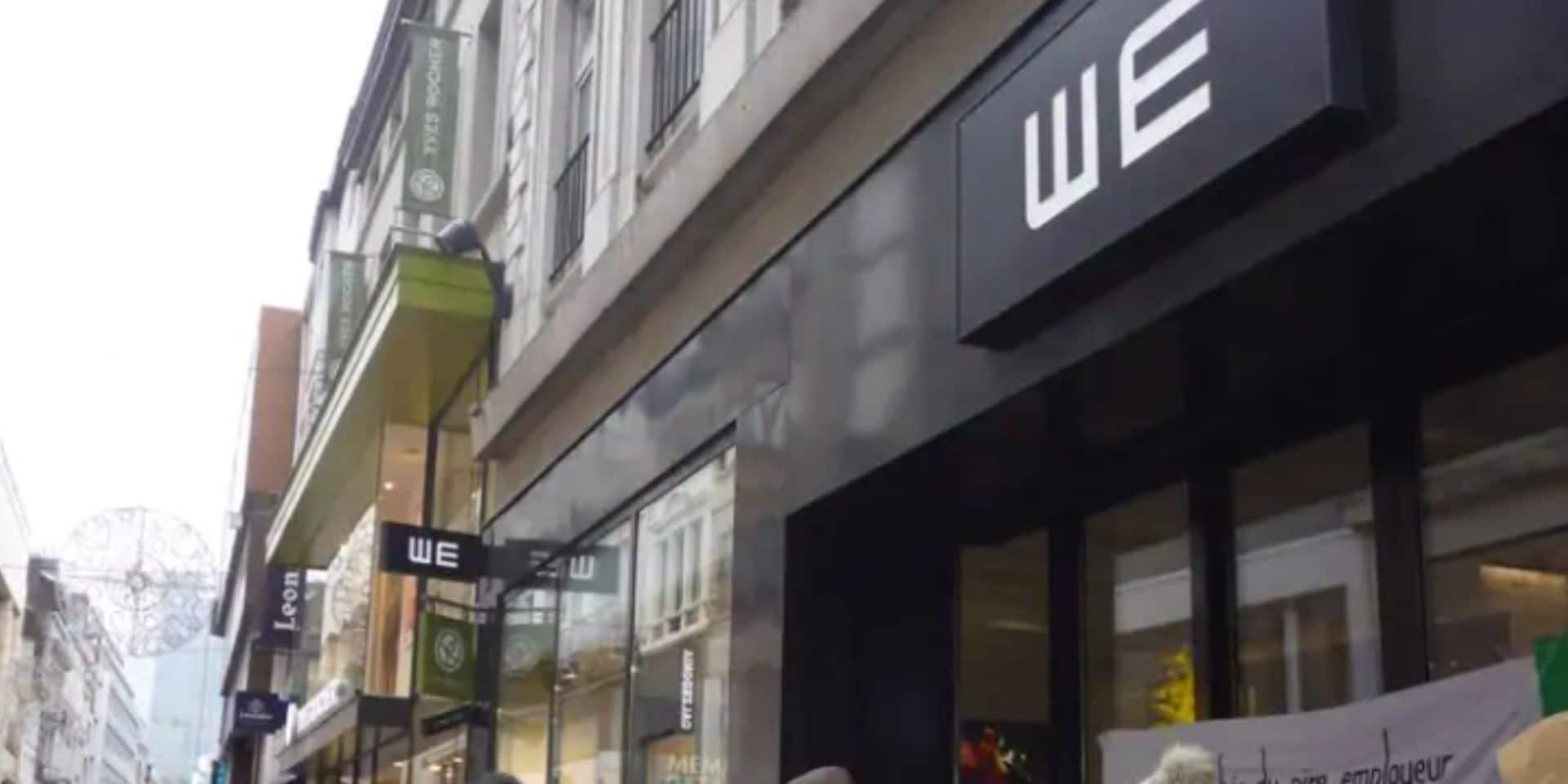 Des travailleurs en grève empêchent l'ouverture d'un magasin WE à Anderlecht