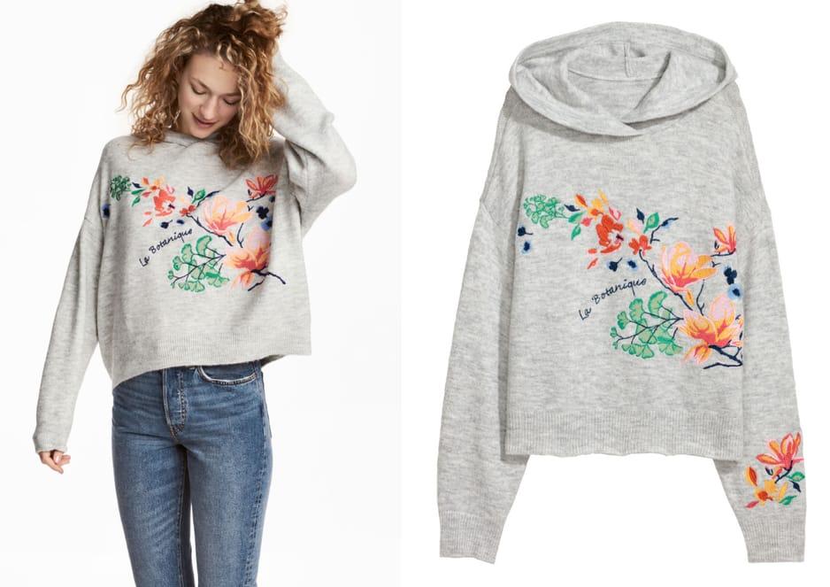 Pull à capuche pour les soirées fraîches, H&M, 39,99 euros.