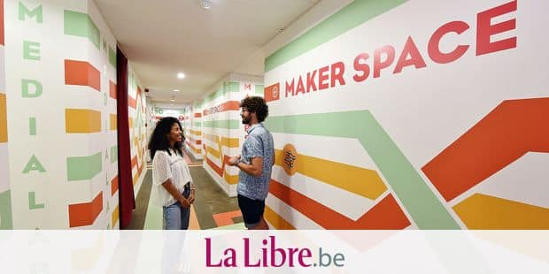Cityfab2 Transforma atelier partager fabLab Evere Maker space espace partage MediaLab couleur reperes