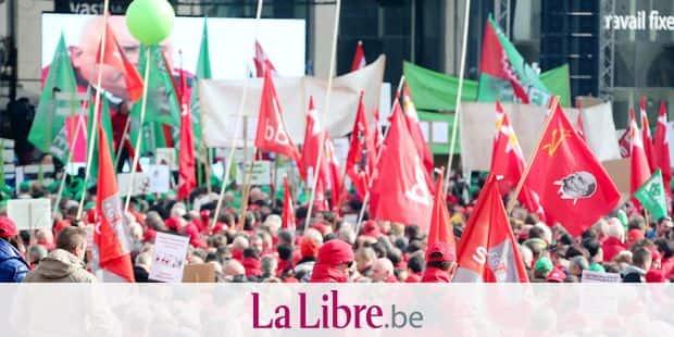 Photos Bernard Demoulin: Rassemblement a la Monnaie FGTB
