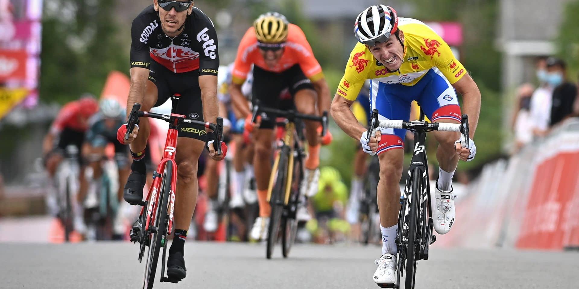"""Philippe Gilbert après sa 2e place sur la dernière étape du Tour de Wallonie: """"Frustrant d'échouer si près"""""""