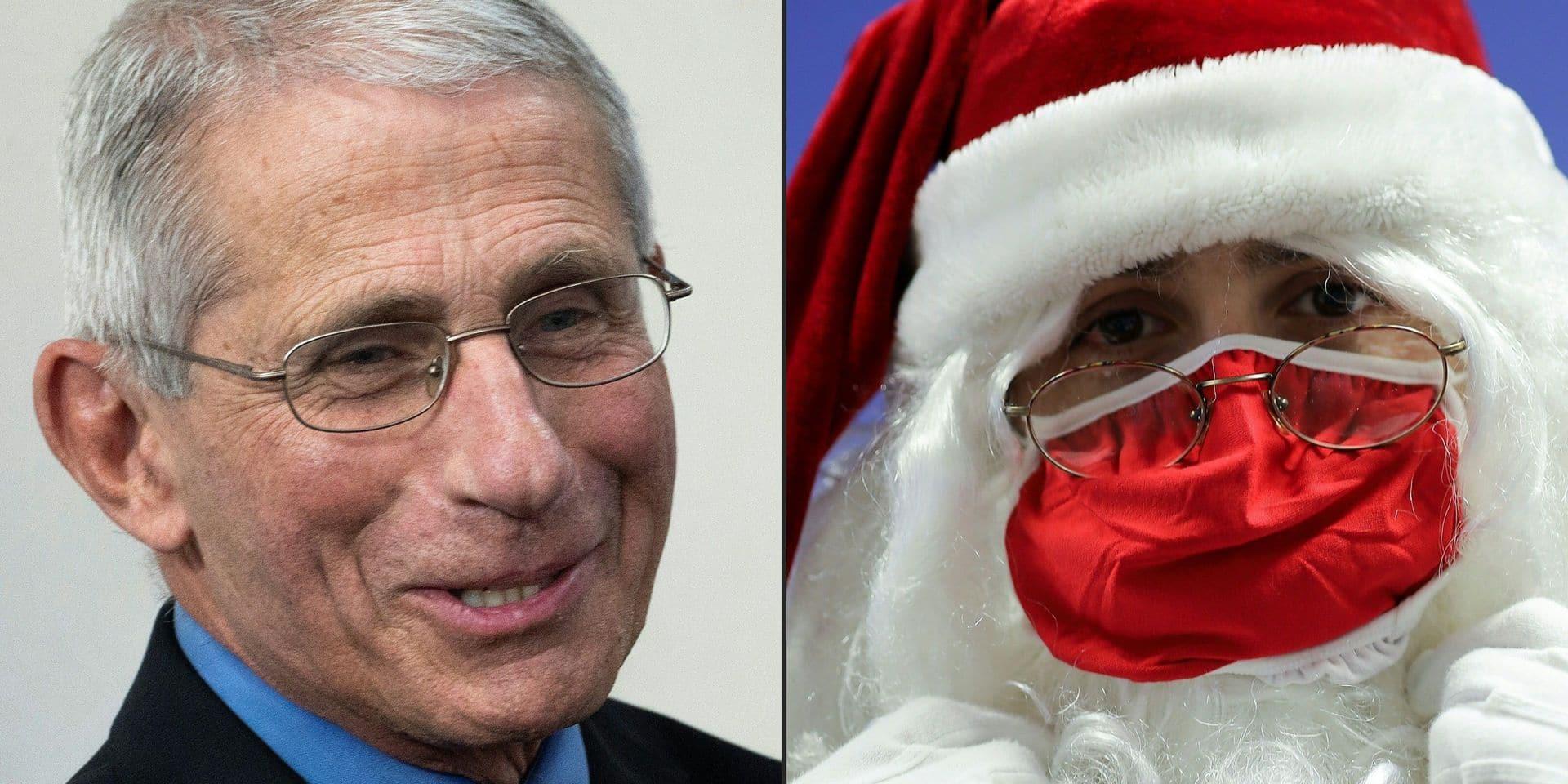 """Le Père Noël est bon pour le service assure l'immunologue Anthony Fauci: """"Je l'ai vacciné moi-même"""""""