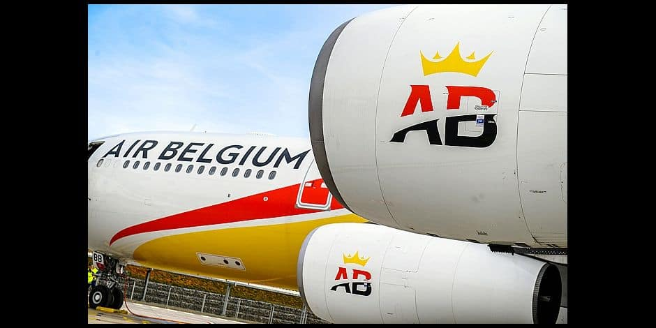Illustration picture shows the arrival of the first plane of Air Belgium at Charleroi Airport, Friday 13 April 2018, in Gosselies, Charleroi. BELGA PHOTO LAURIE DIEFFEMBACQ