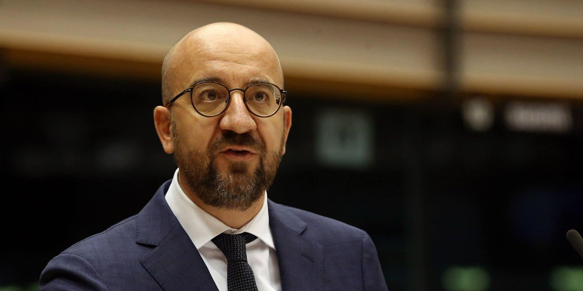 """Charles Michel: """"Le peuple libanais peut compter sur l'Union européenne"""""""