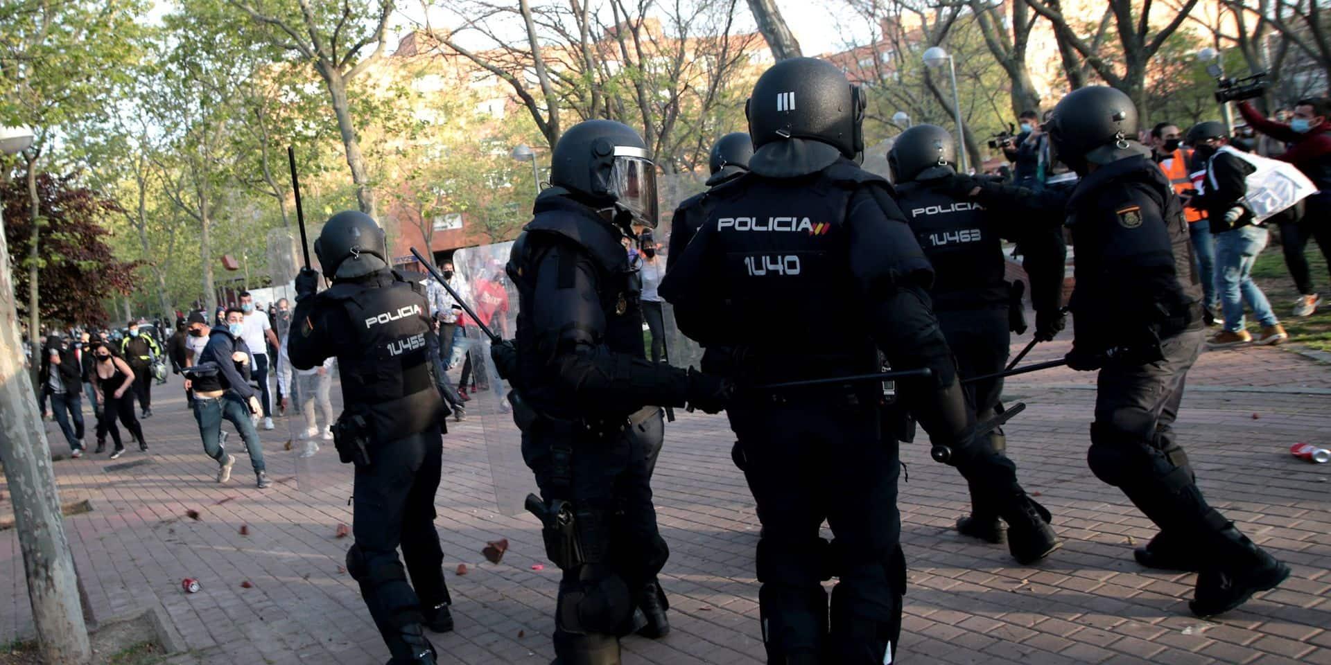 Madrid: quatre arrestations et 35 blessés lors d'une manifestation contre l'extrême-droite