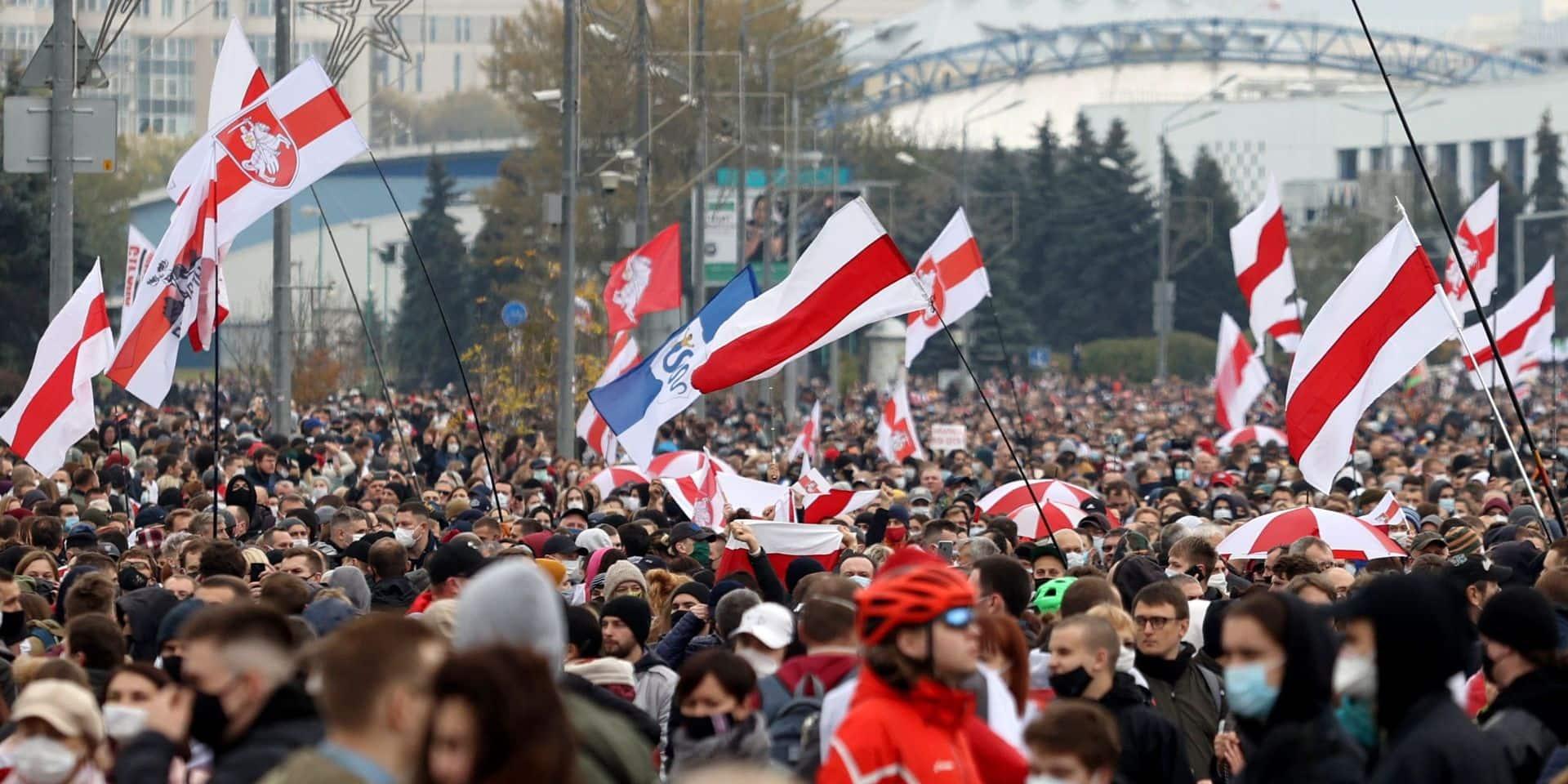 Manifestation à Minsk le 25 octobre dernier.