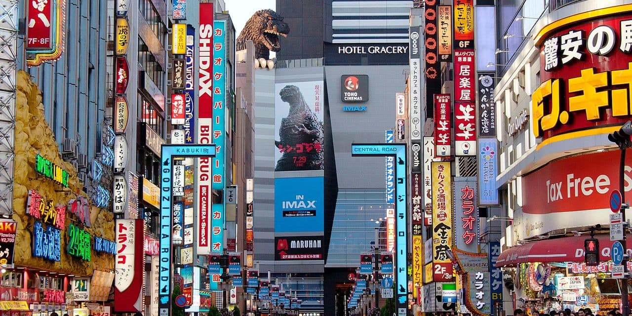 Godzilla mania spreads in Tokyo