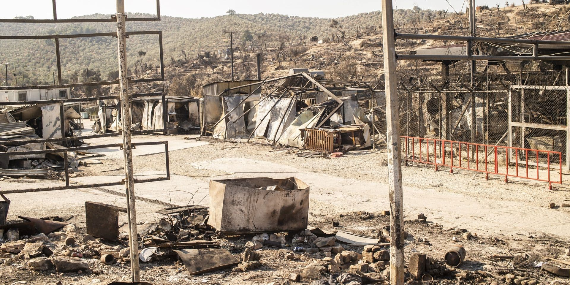 """Après l'incendie au camp de Moria, la Grèce assure qu'un nouveau camp migrants sera prêt """"dans cinq jours"""""""