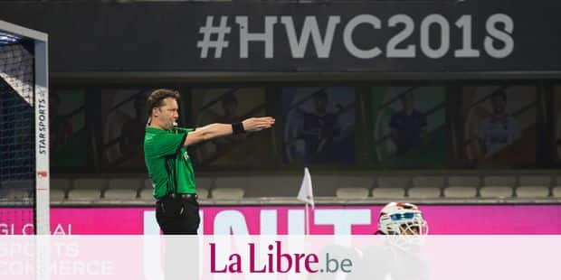 "Belgian referee Gregory Uyttenhove in action during the Hockey World Cup, in Bhubaneswar, India. on the picture regarding the Belga article ""L'Allemagne vainqueur du choc contre les Pays-Bas, partage entre le Pakistan et la Malaisie"", 05/12/2018 17:10, in BRUSSELS. BEST QUALITY AVAILABLE - BELGA PHOTO DANIEL TECHY"