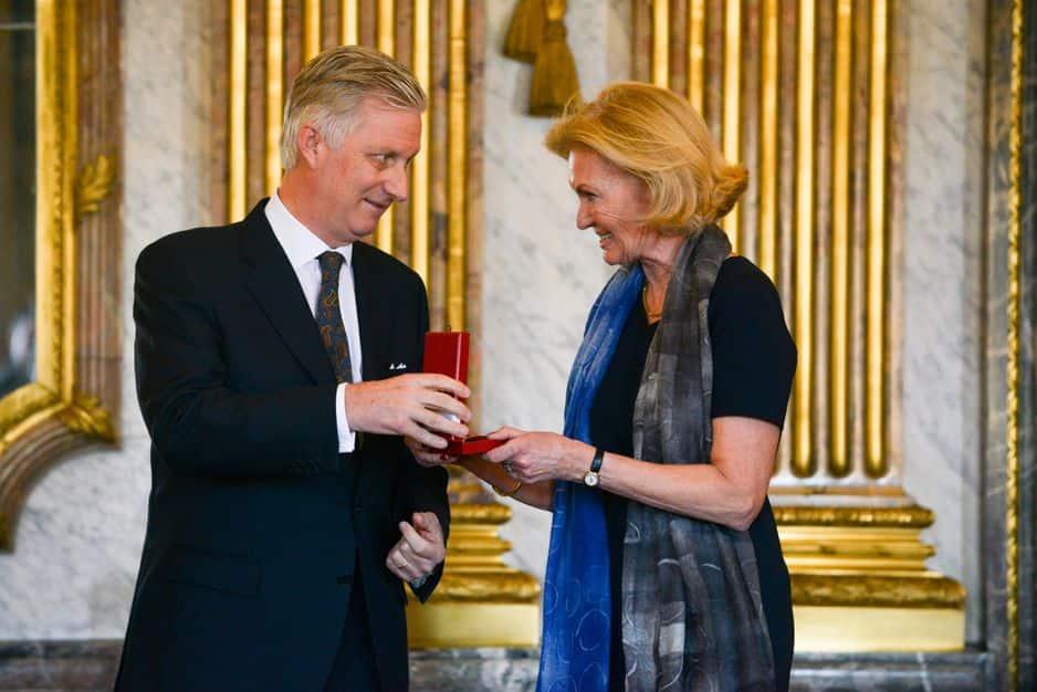 La Princesse Antoinette De Merode, très active dans la Fondation Reine Paola, devient commandeur de l'Ordre de la Couronne.