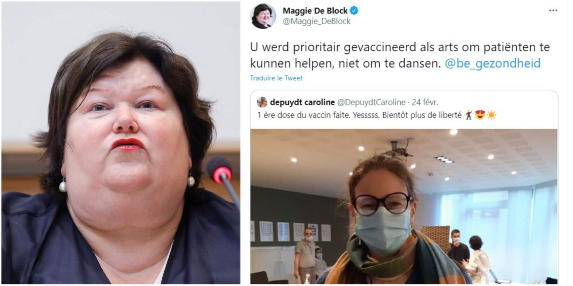 """Un tweet de Maggie De Block à l'égard d'une psychiatre crée la polémique: """"Inutilement blessant et humiliant"""""""