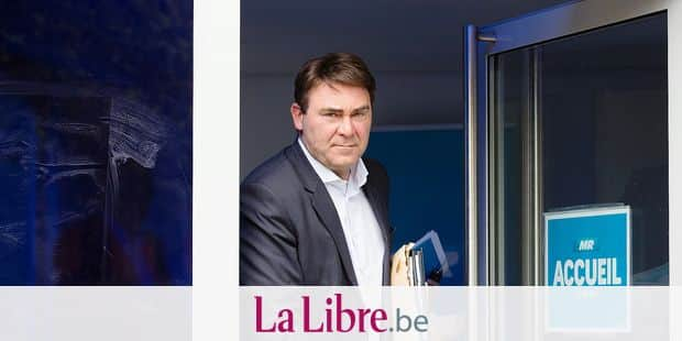 MR's head of group Denis Ducarme pictured after a party bureau of French-speaking liberals MR, Monday 27 May 2019 in Brussels, after yesterday's regional, federal and European elections. BELGA PHOTO BENOIT DOPPAGNE