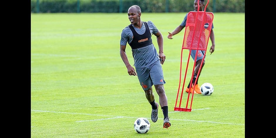 Anderlecht's Knowledge Musona pictured during the first training session of Jupiler Pro League team RSCA Anderlecht, for the 2018-2019 soccer season, at the Soccer Union training facilities in Tubize, Thursday 21 June 2018. BELGA PHOTO VIRGINIE LEFOUR