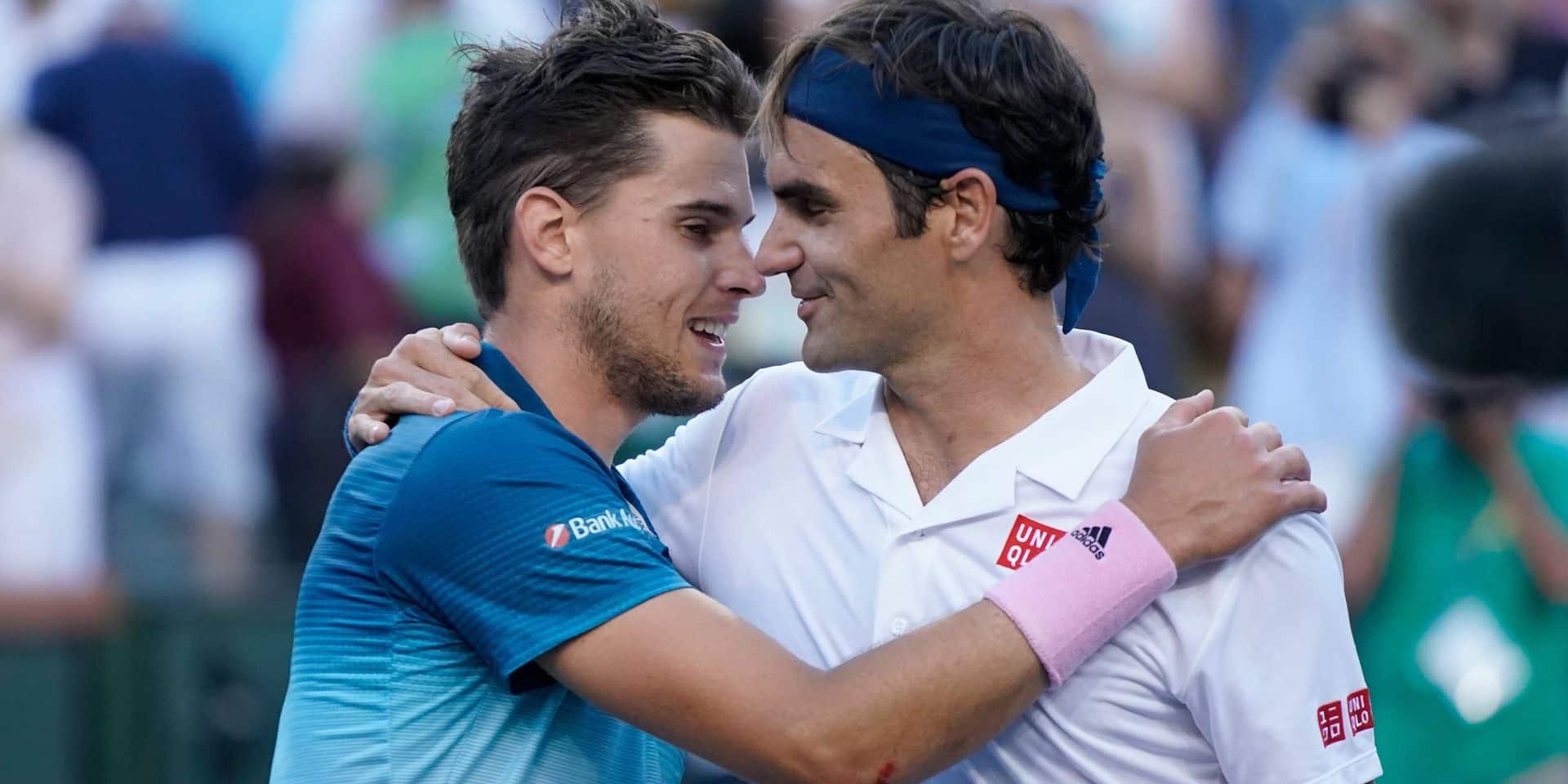 2019 Indian Wells Dominic Thiem , Austria, beats Roger Federer, Switzerland to win the Indian Wells Tournament 2019 ***