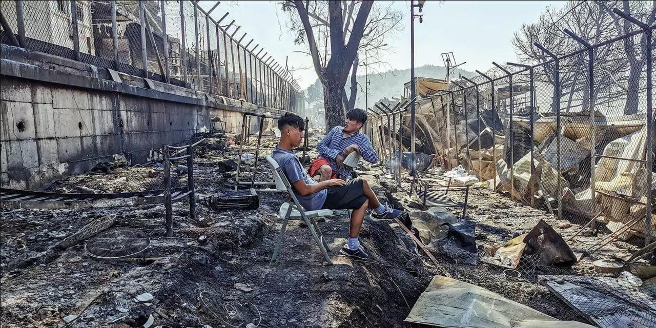 Incendie dans le camp de Moria : stop à la politique de rétention des migrants