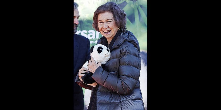 23-02-2018 Spain Queen Sofia during the opening of the renovated conservation of the giant panda at the Zoo Aquarium in Madrid. No Spain © PPE /Thorton Reporters / PPE