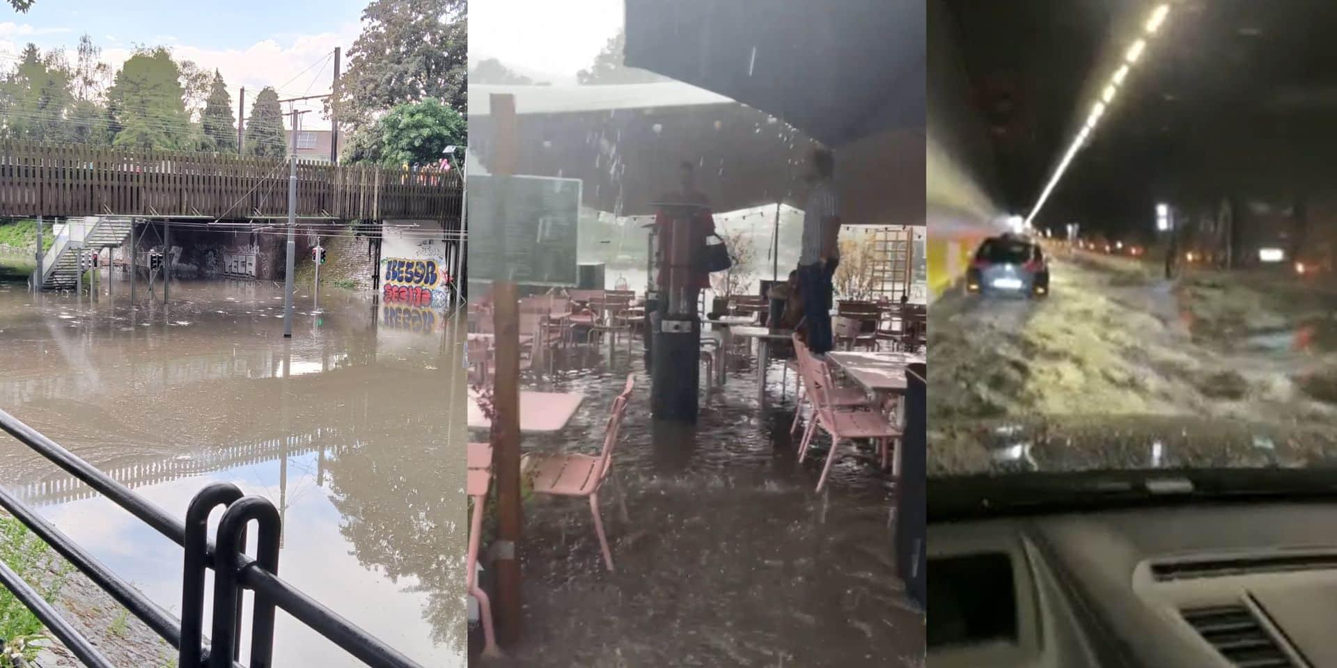 Rues inondées, tunnels fermés, circulation des trains interrompue : les orages ont fait des dégâts un peu partout en Belgique (PHOTOS & VIDEOS)