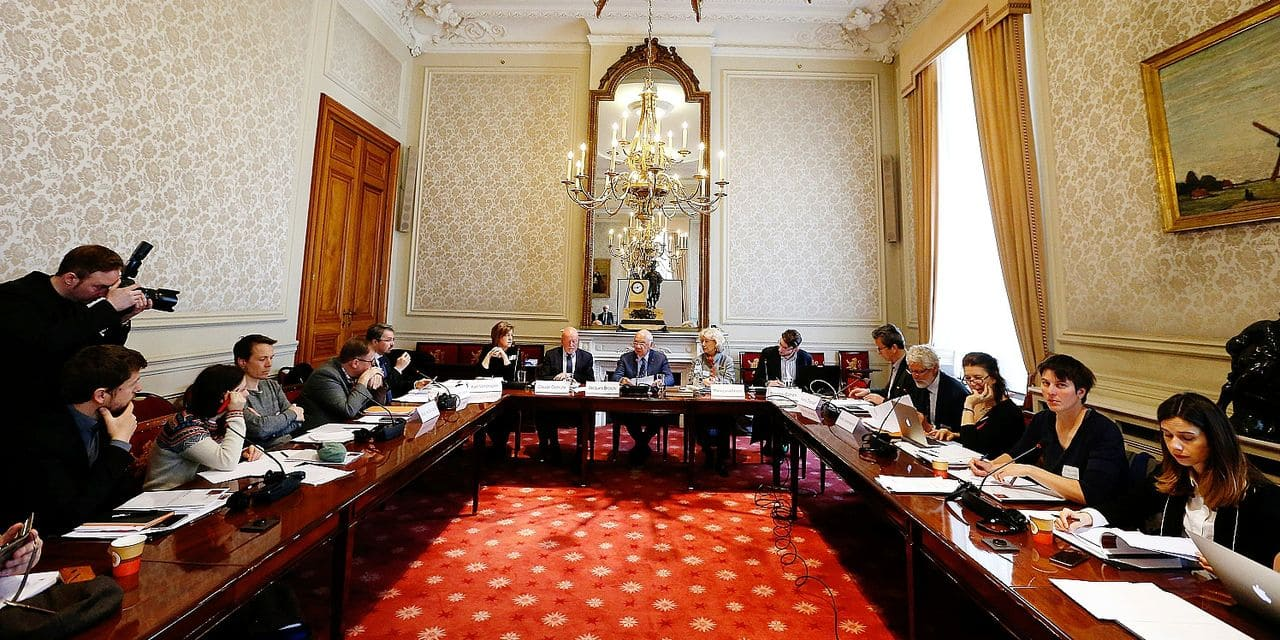 Illustration picture shows the presentation of the year report of the 'Comite T' terrorism committee, at the senate at the federal parliament in Brussels, Tuesday 12 March 2019. BELGA PHOTO NICOLAS MAETERLINCK