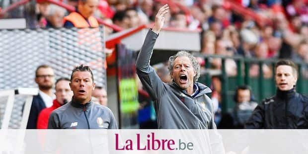 Standard's head coach Michel Preud'homme reacts during the Jupiler Pro League match between Standard de Liege and STVV, in Liege, Saturday 25 August 2018, on the fifth day of the Jupiler Pro League, the Belgian soccer championship season 2018-2019. BELGA PHOTO LAURIE DIEFFEMBACQ
