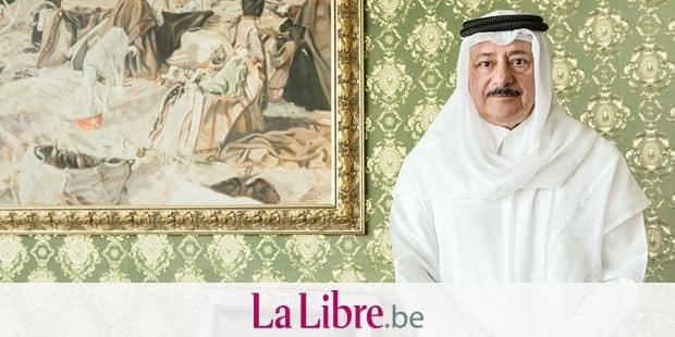 Portrait of Najeeb Al Nuaimi, a prominent Qatari human rights lawyer who was one of the three foreign lawyers on Saddam Hussein's legal defense team.