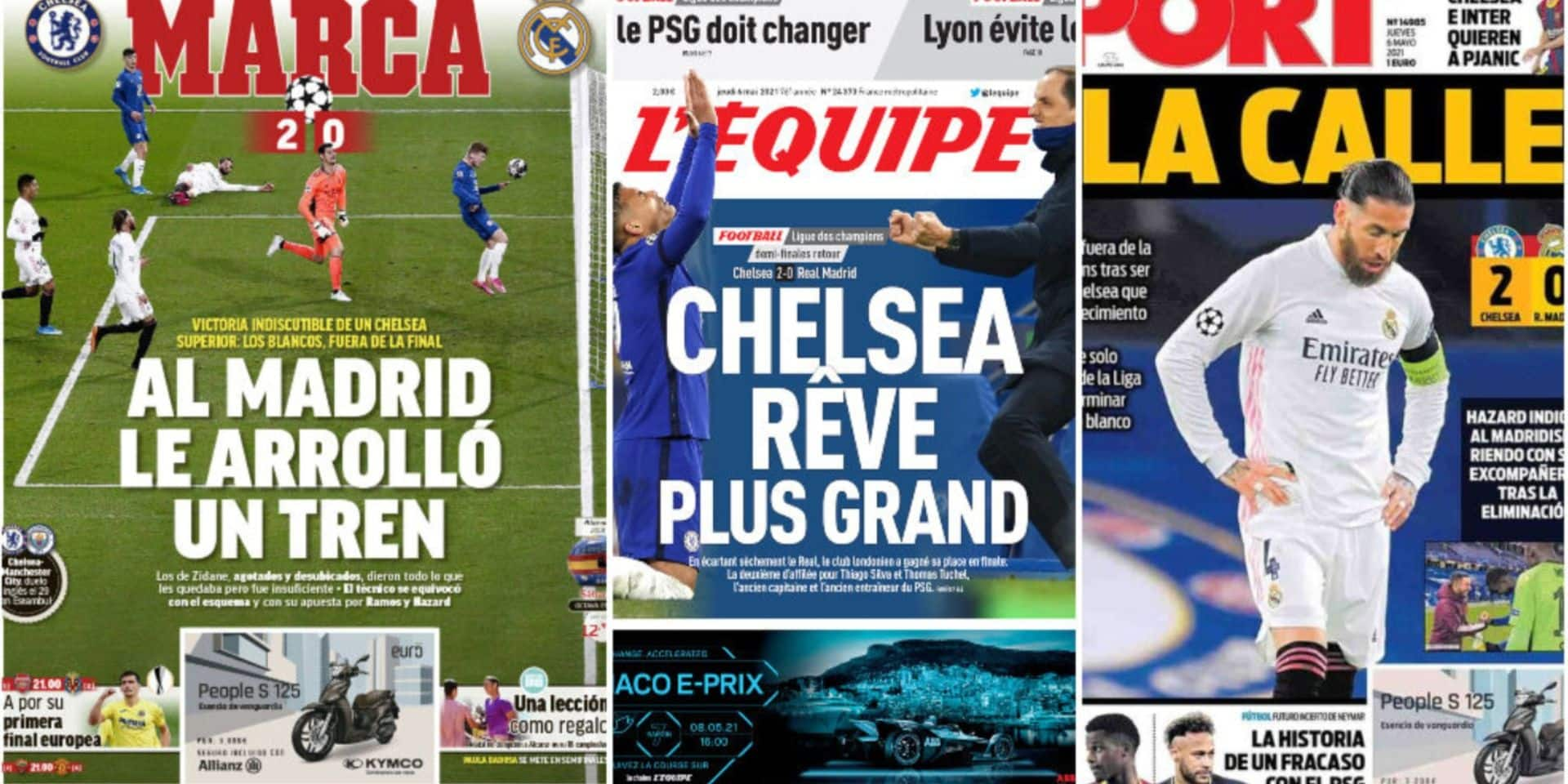 """""""La déception Hazard"""", """"Inadmissible"""", """"Bye bye Eden"""": la presse critique Hazard et félicite Chelsea"""