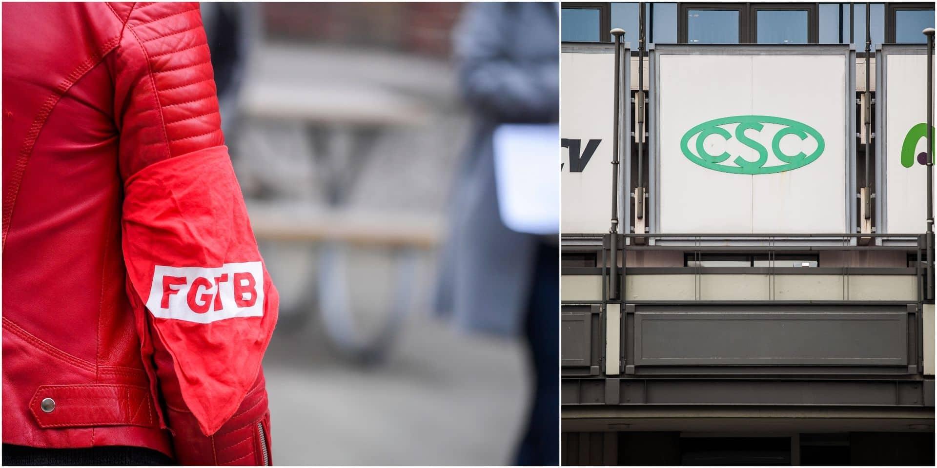 FGTB et CSC mobilisées pour réclamer une plus grande marge salariale ce lundi