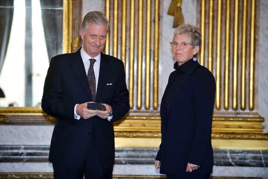 Marie Laga, active dans la prévention du sida, commandeur de l'Ordre de Léopold