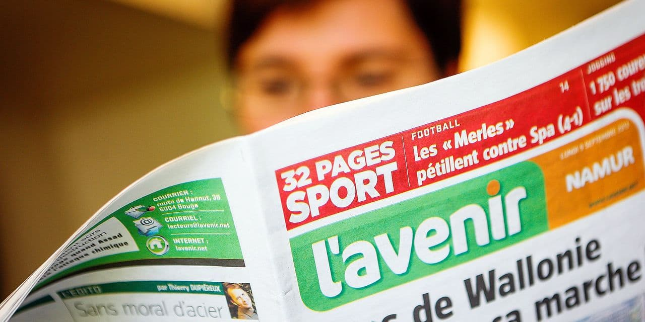 20130909 - BOUGE, BELGIUM: Illustration shows L'avenir newspaper at Vers L'Avenir building in Bouge, Monday 09 September 2013. Vers L'avenir was bought in 2005 by Flemish media group Corelio and was bought last week by Tecteo. BELGA PHOTO BRUNO FAHY