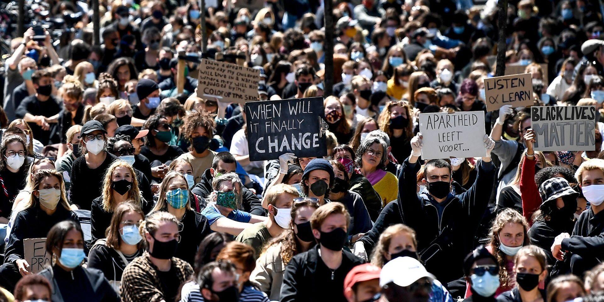 Manifestation Black Lives Matter à Anvers : 115 personnes interpellées
