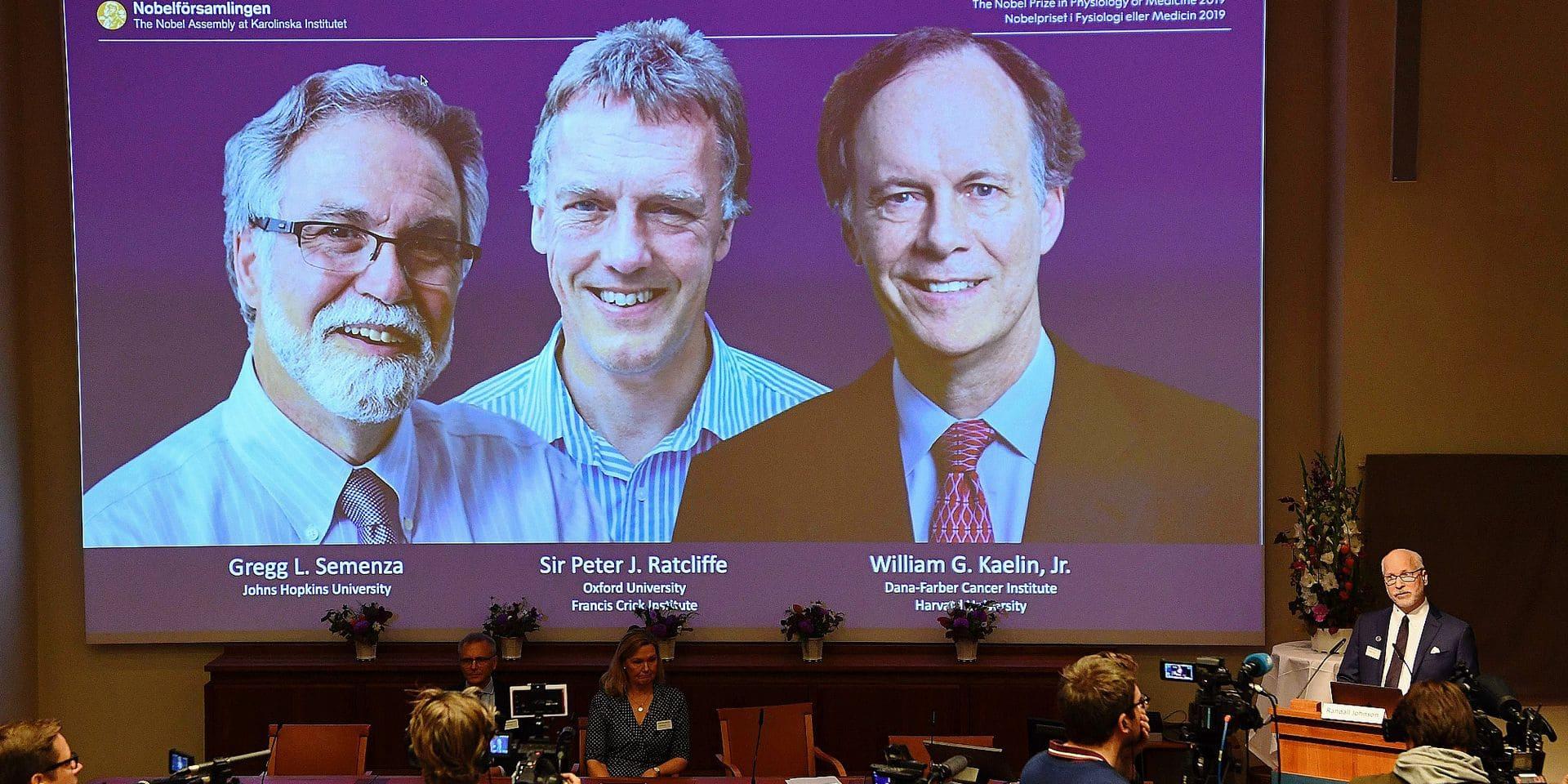Prix Nobel de Médécine - Gregg Semenza et William Kaelin, avec Peter Ratcliffe