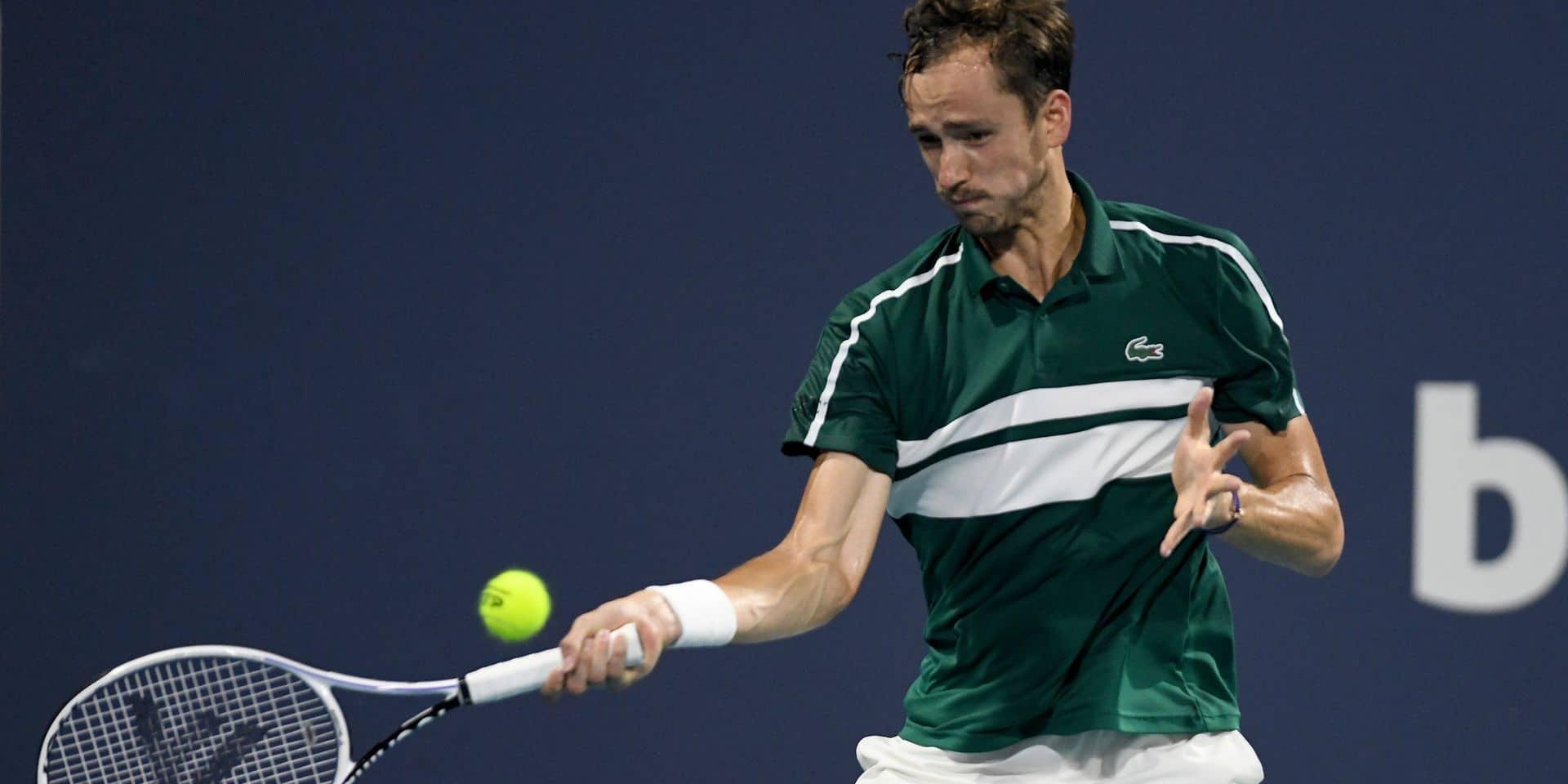 ATP Monte-Carlo: le Russe Daniil Medvedev, 2e mondial, testé positif au coronavirus