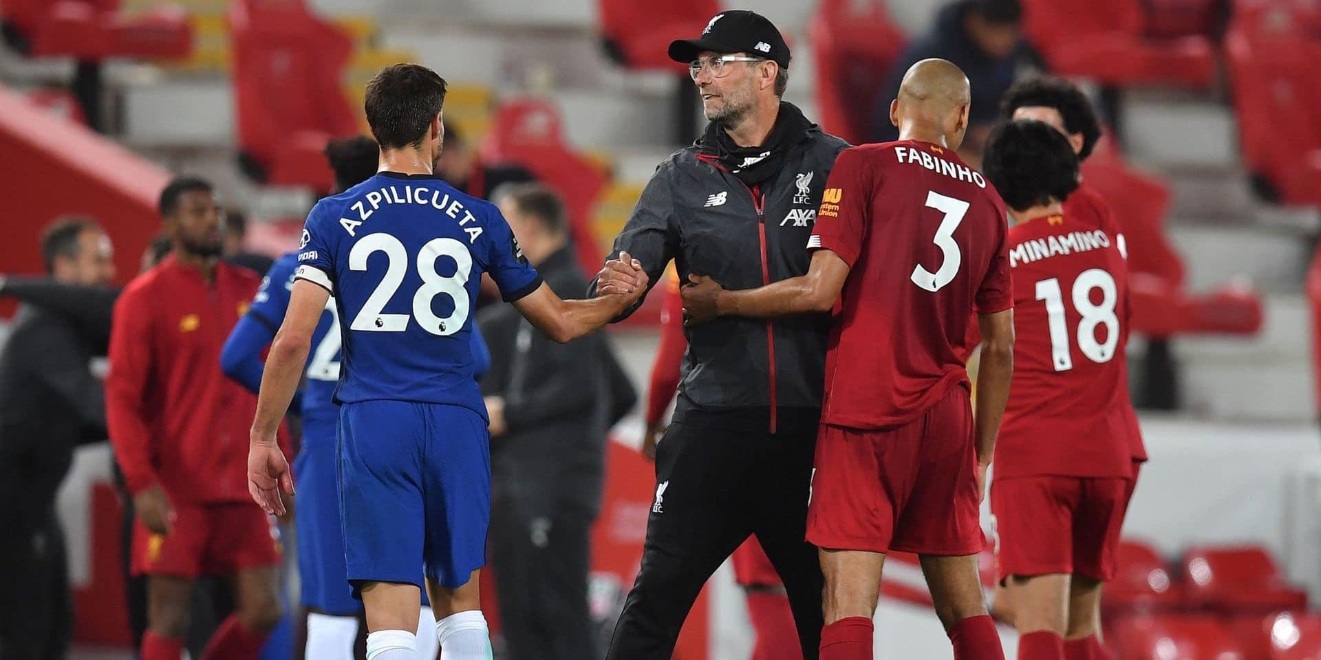 Belges à l'étranger: Liverpool et Chelsea assurent le spectacle (5-3), Origi monte en fin de partie