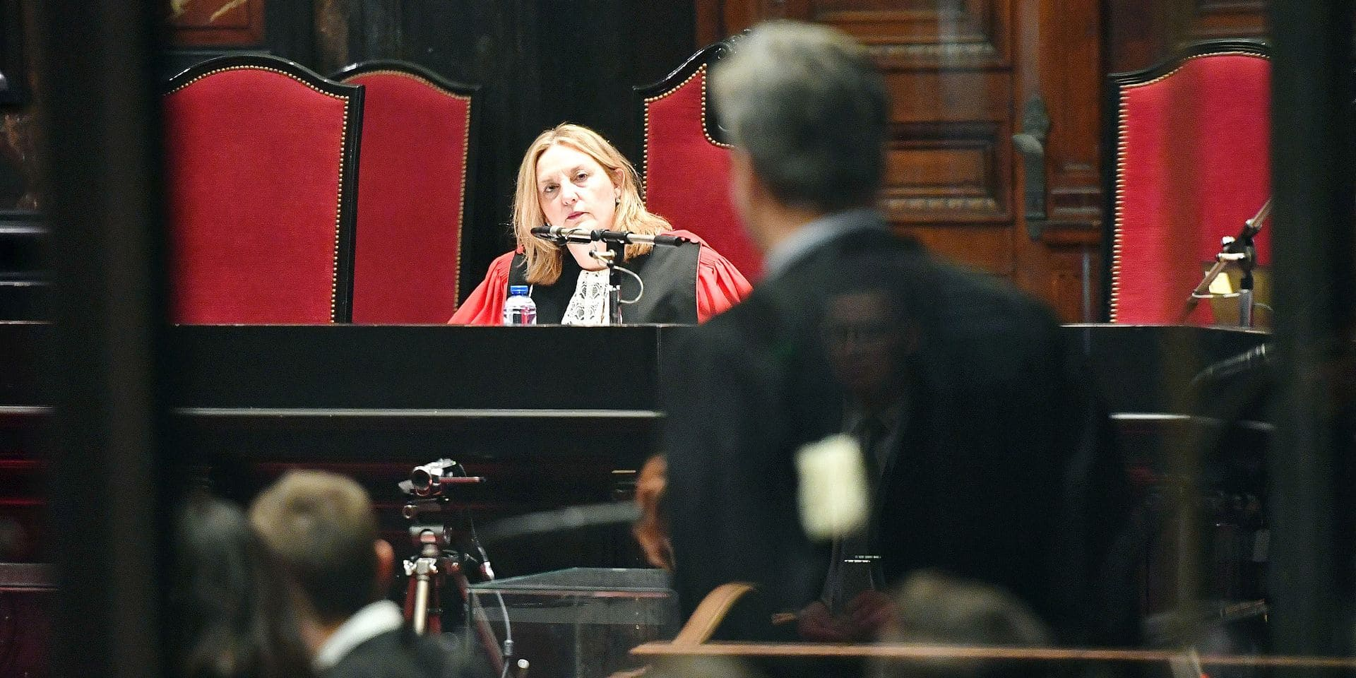 Chairwoman of the court Laurence Massart pictured during a preliminary session of the trial for the terrorist attack at the Jewish Museum in Brussels, at the Brussels Justice Palace, in Brussels, Thursday 20 December 2018. Nemmouche and Bendrer are accused of committing a terrorist attack on 24 May 2014 at the Brussels Jewish Museum, killing four people. BELGA PHOTO POOL GEERT VANDEN WIJNGAERT