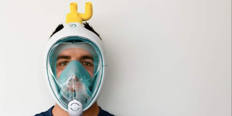 Détourner l'usage d'un masque de snorkeling en masque de protection grâce à une valve imprimée en 3D