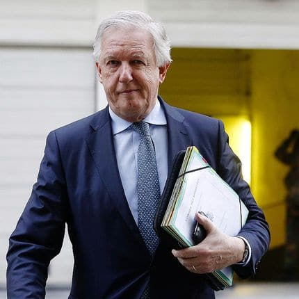 Minister of Pensions Daniel Bacquelaine arrives for a Minister's council meeting of the Federal Government in Brussels, Friday 09 February 2018. BELGA PHOTO NICOLAS MAETERLINCK